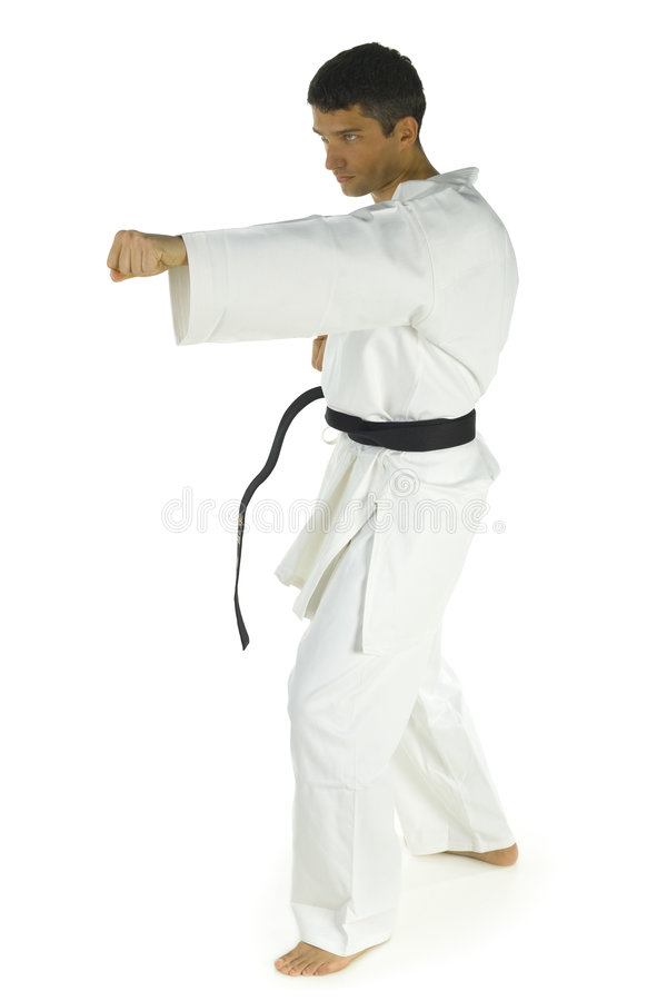 młody karateka obraz stock