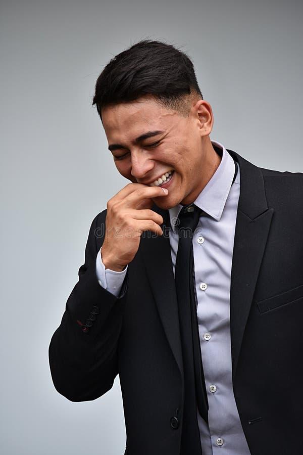 Młody Kolumbijski biznesmena Śmiać się zdjęcie royalty free