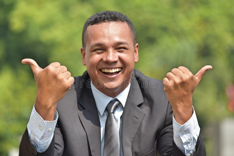 Młody Kolumbijski Biznesowy mężczyzna I szczęście zdjęcie royalty free