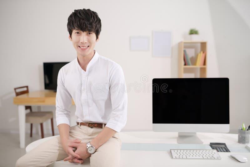 Młody Koreański kierownik zdjęcie stock