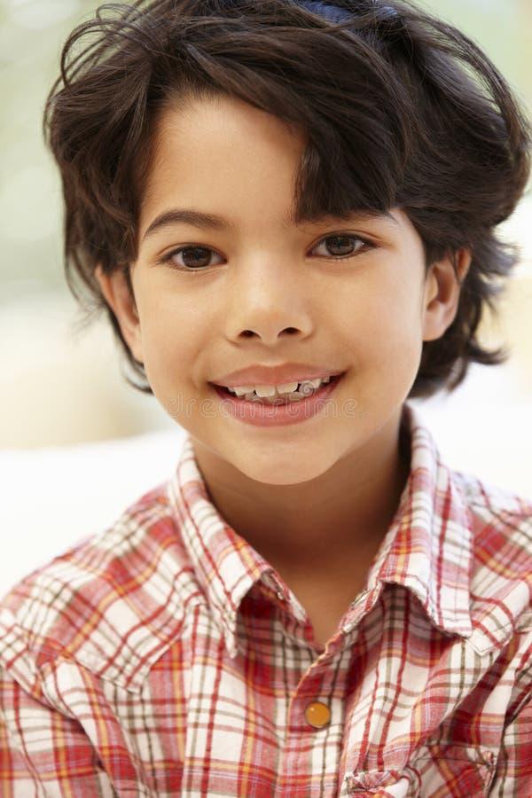 Młody Latynoski chłopiec portret obraz stock