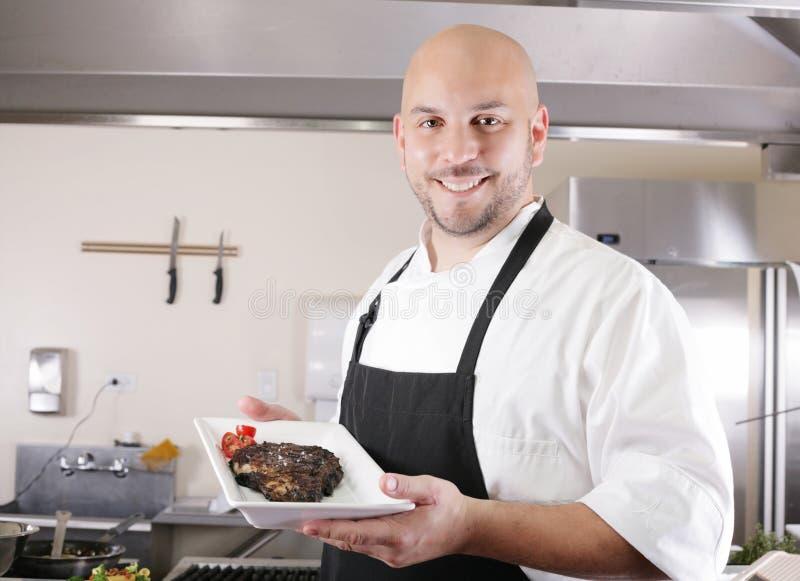 Młody męski szef kuchni obrazy stock