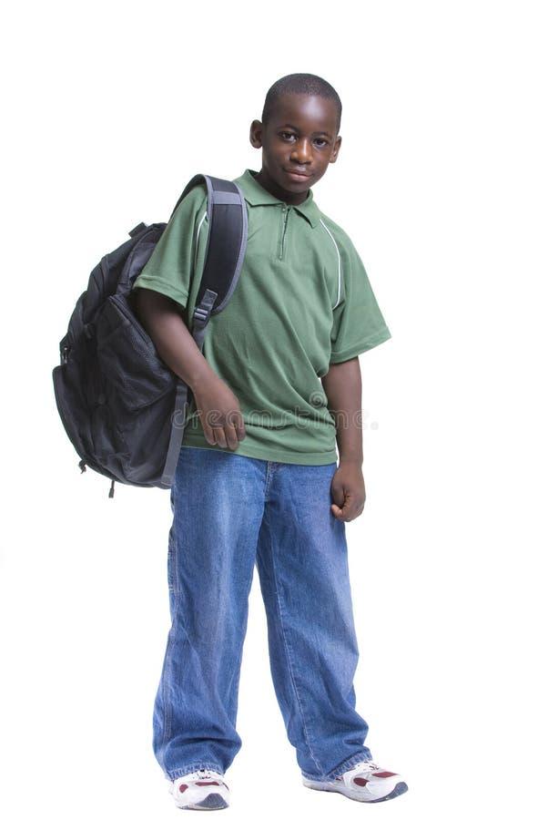 Młody męskiego ucznia