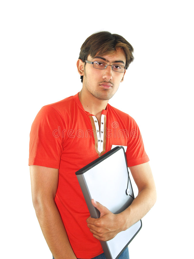 młody męskiego ucznia fotografia stock