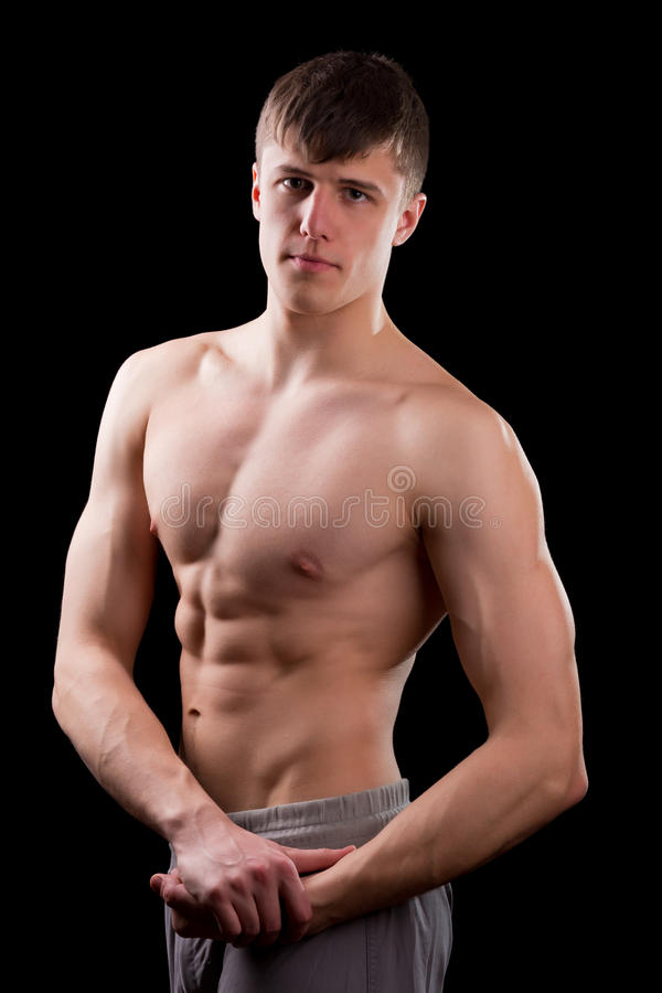 Download Młody mięśniowy mężczyzna zdjęcie stock. Obraz złożonej z atleta - 28958616