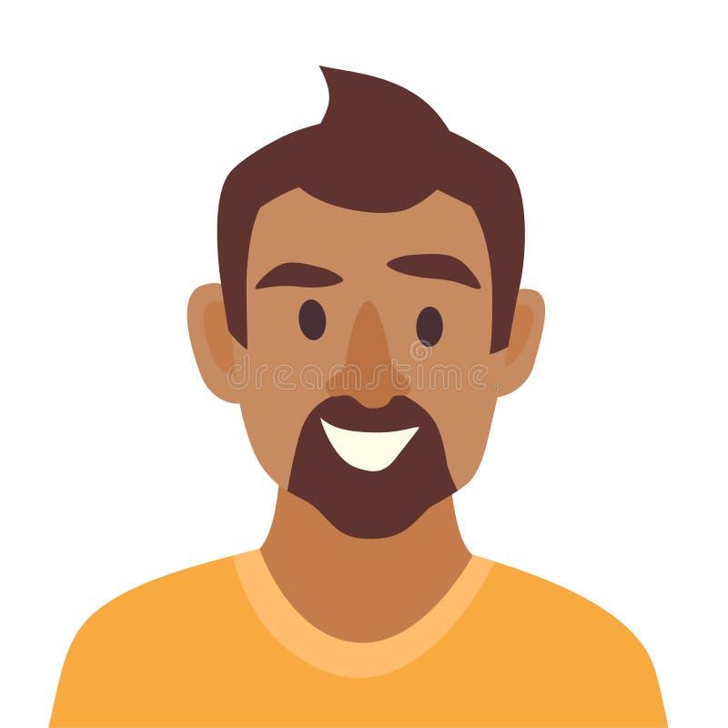 Młody murzyn ikony wektor Mężczyzna ikony ilustracja Twarz murzyn ikona ilustracji