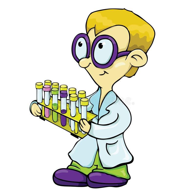 Młody naukowiec. ilustracji
