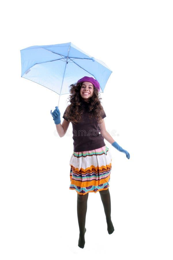 młody parasol pod kobiet obrazy royalty free