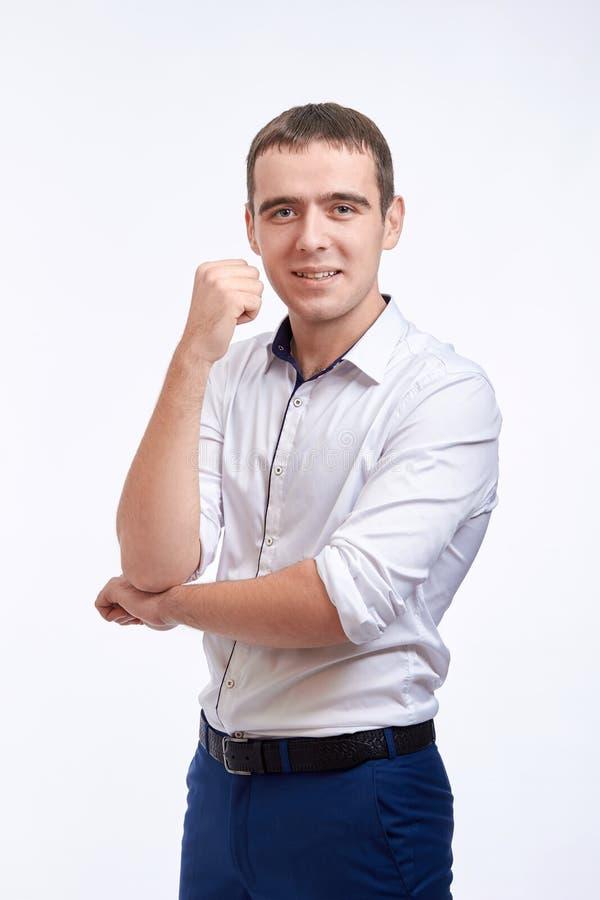 Młody smilling mężczyzna obraz stock