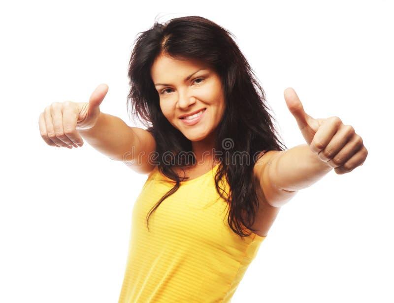 Młody sprawności fizycznej kobiety przedstawienia ok obraz stock