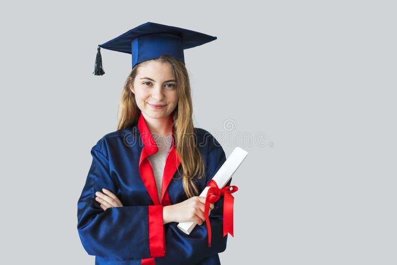 Młody studencki kończyć studia od uniwersyteta fotografia stock