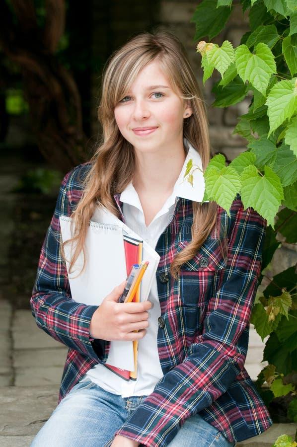 Młody studencki portret zdjęcie stock