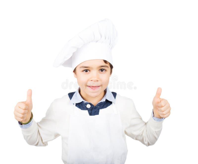 Młody szczęśliwy kucharz zdjęcie stock
