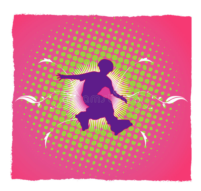 młody zawodnik wektora ilustracji
