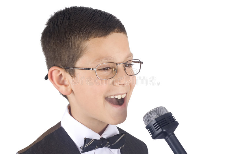młodych piosenkarzy obraz stock