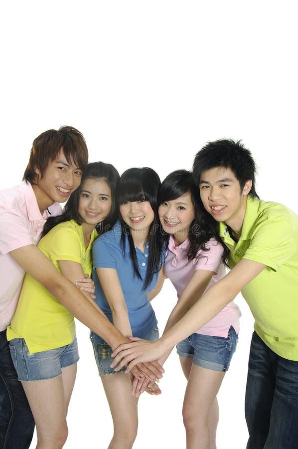 młodzi azjatykci ucznie obrazy royalty free