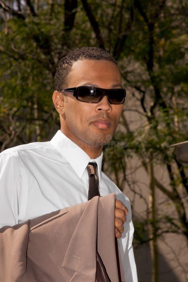 młodzi biznesmenów okulary przeciwsłoneczne amerykańscy okulary przeciwsłoneczne obraz stock