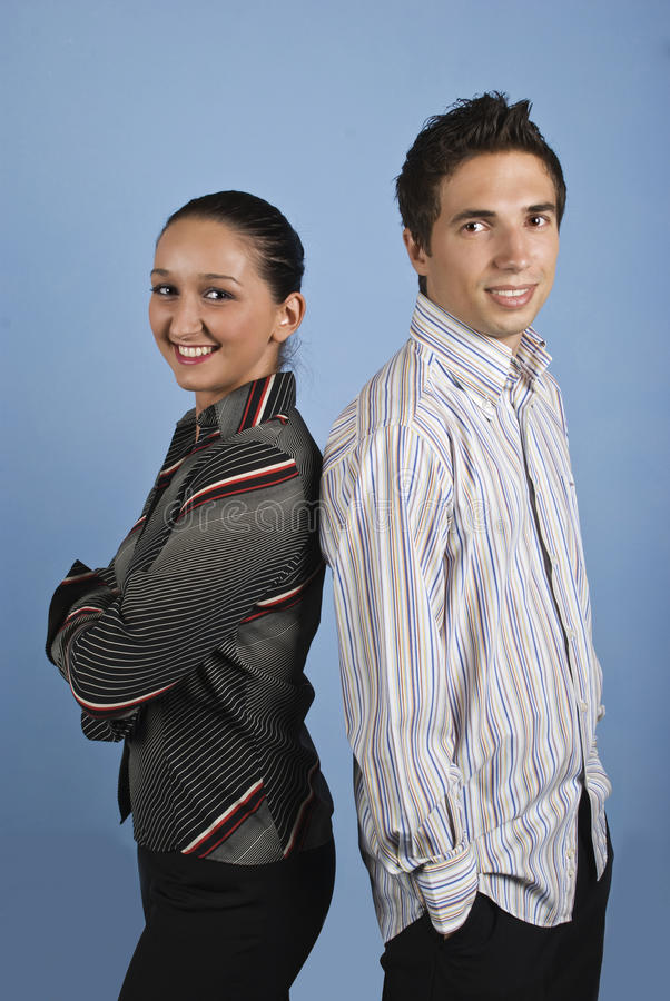 Młodzi Biznesowi Szczęśliwi Ludzie Obrazy Stock