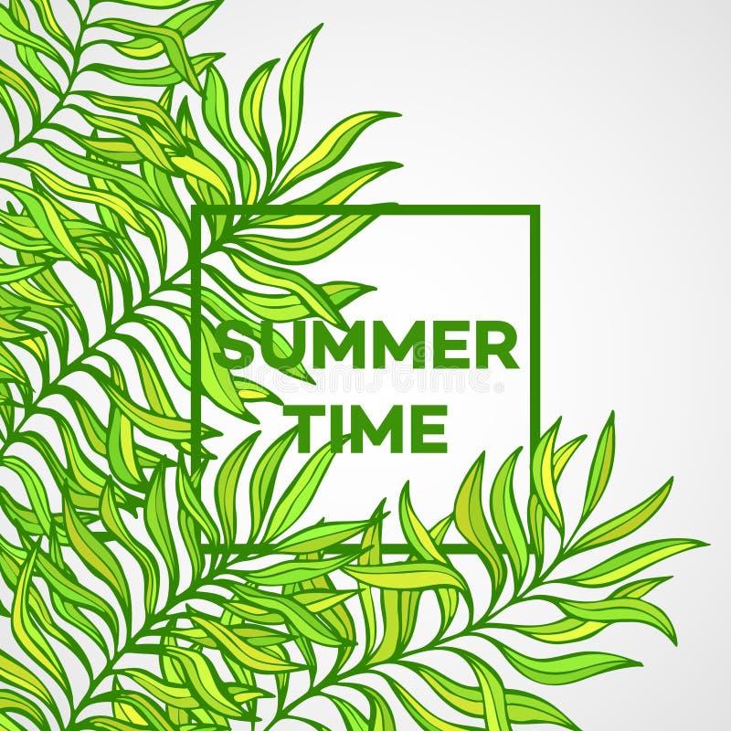 młodzi dorośli Wektorowa ilustracja tropikalna palma ilustracja wektor