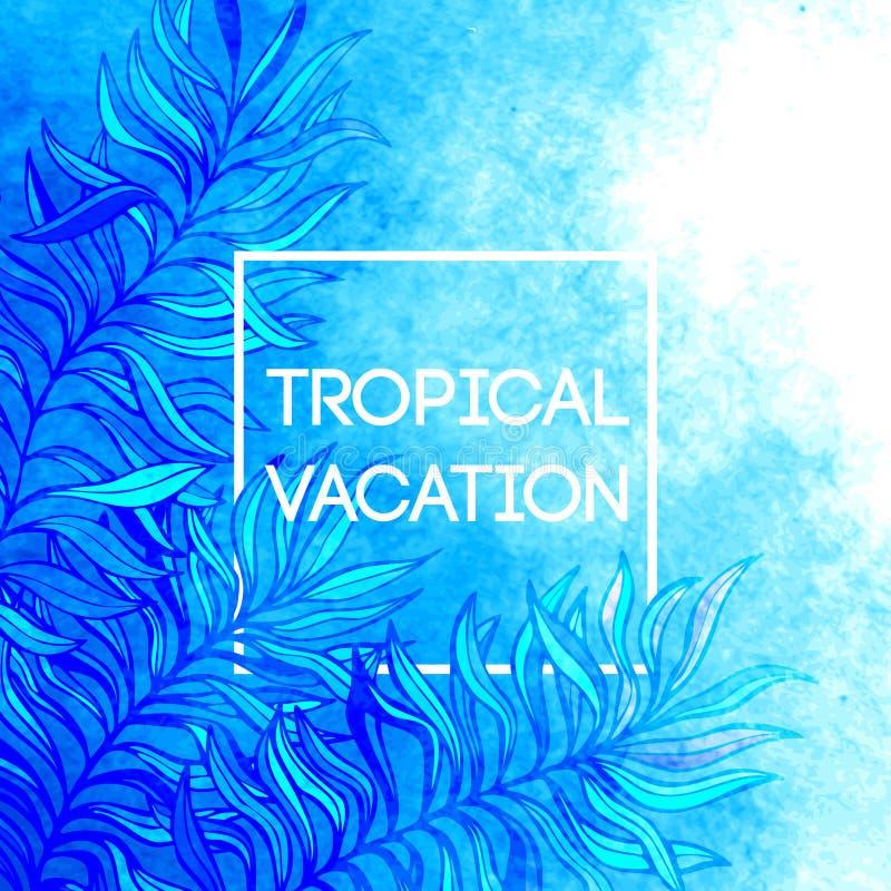młodzi dorośli Wektorowa ilustracja tropikalna palma royalty ilustracja