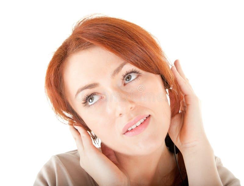 Download Młodzi Dziewczyna Hełmofony Obraz Stock - Obraz złożonej z piękno, audio: 13325597