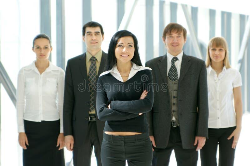 młodzi grupowi biznesów ludzie pięć zdjęcie royalty free