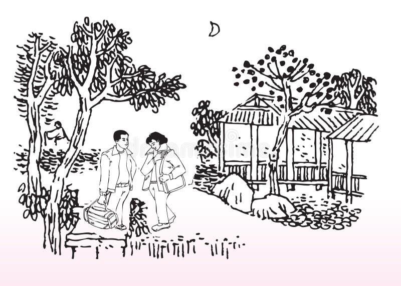 młodzi kochankowie ilustracji