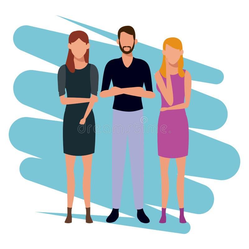 Młodzi ludzie avatar royalty ilustracja