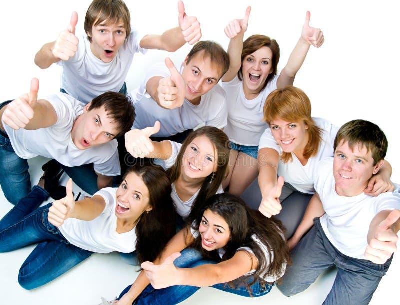 Młodzi ludzie ono uśmiecha się fotografia royalty free