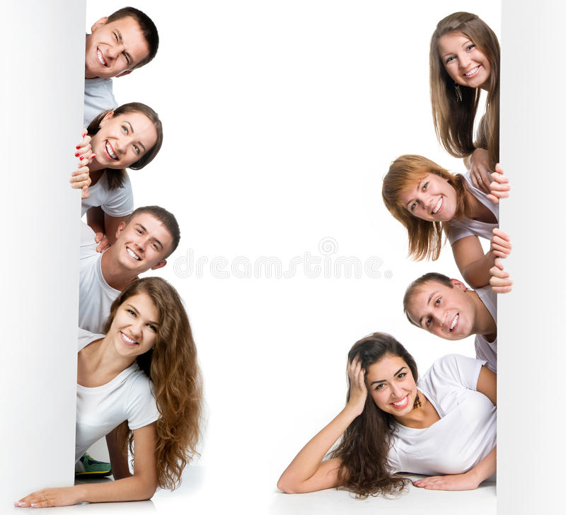 Młodzi ludzie przyglądający out deska zdjęcie royalty free