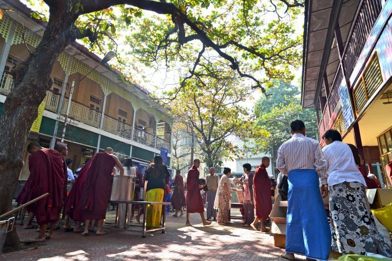 Młodzi michaelita w Ganayon Kyaung fotografia stock