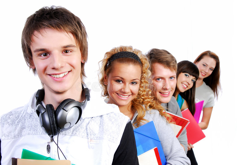 Młodzi Portretów Szczęśliwi Ucznie Obrazy Stock