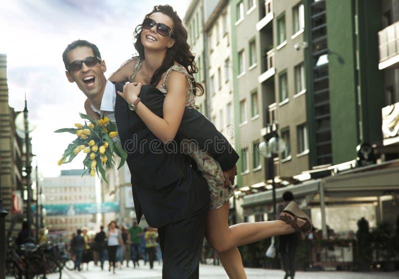 młodzi szczęśliwi ludzie obraz stock