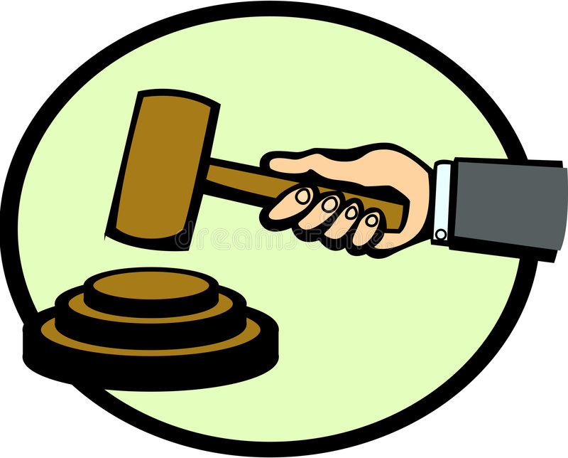 młot licytacji sędziego ilustracji