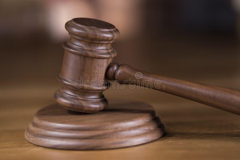 Młoteczek, prawo temat, dobniak sędziego pojęcie fotografia royalty free
