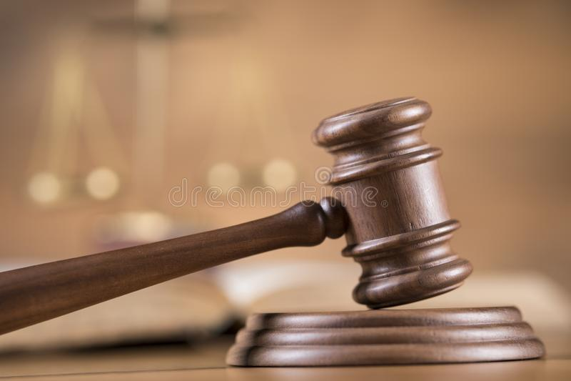 Młoteczek, prawo temat, dobniak sędziego pojęcie zdjęcia stock