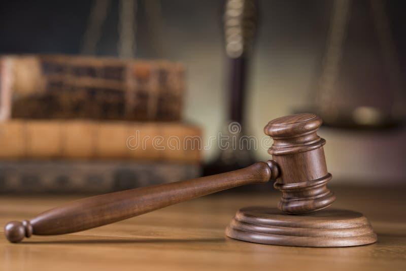 Młoteczek, prawo temat, dobniak sędziego pojęcie obraz stock