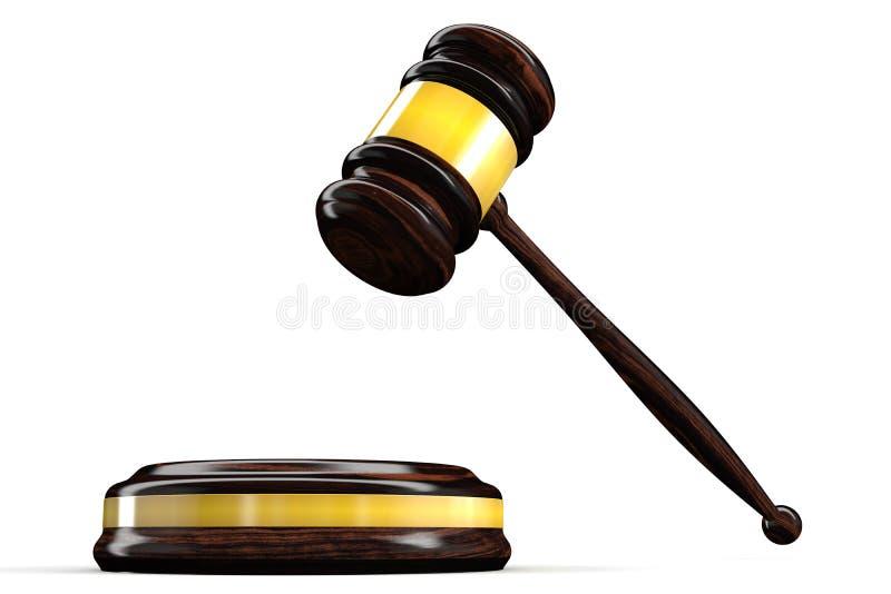 młoteczka sędzia ilustracja wektor