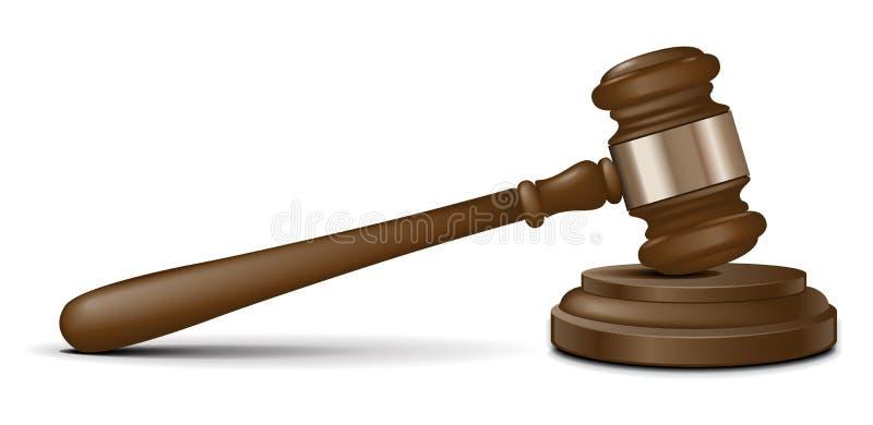 młoteczka sędziego wektor ilustracja wektor