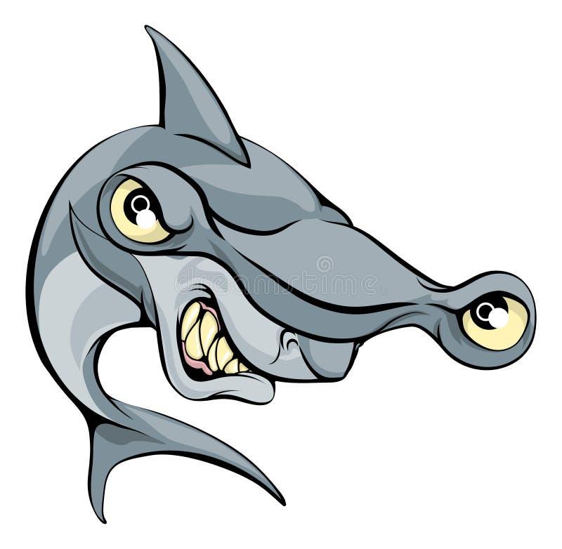 Młoteczkowej głowy rekinu kreskówka royalty ilustracja