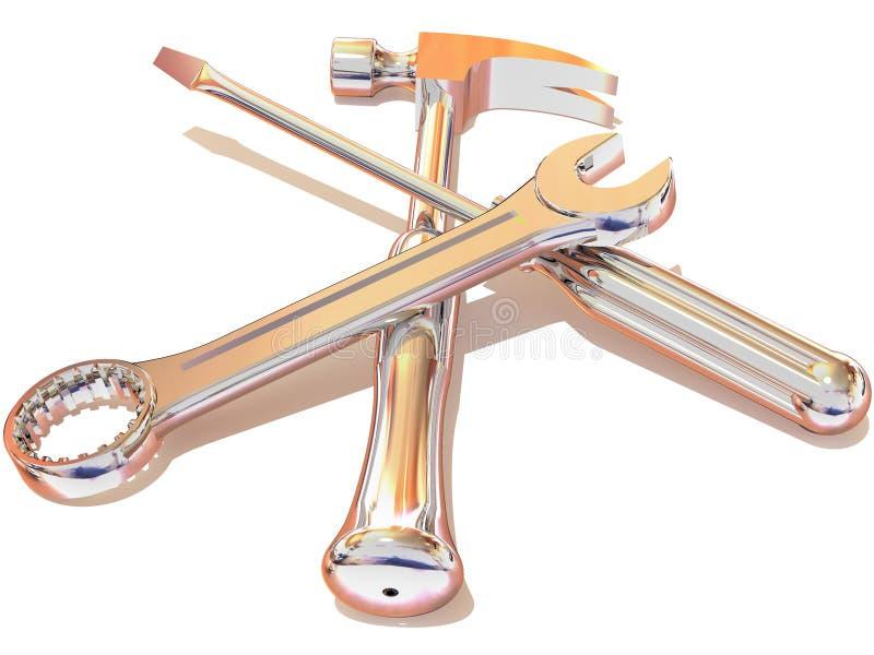 młoteczkowi śrubokrętu spanner narzędzi royalty ilustracja