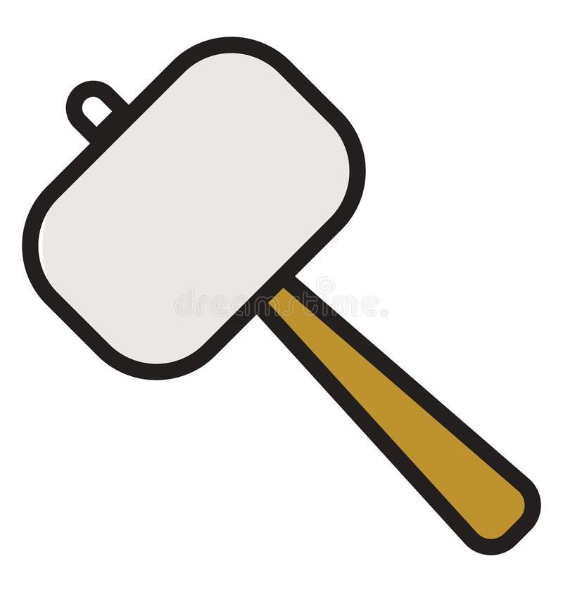 Młoteczkowy kontur i Wypełniająca Odosobniona wektorowa ikona który mogą łatwo modyfikują lub redagujący ilustracja wektor
