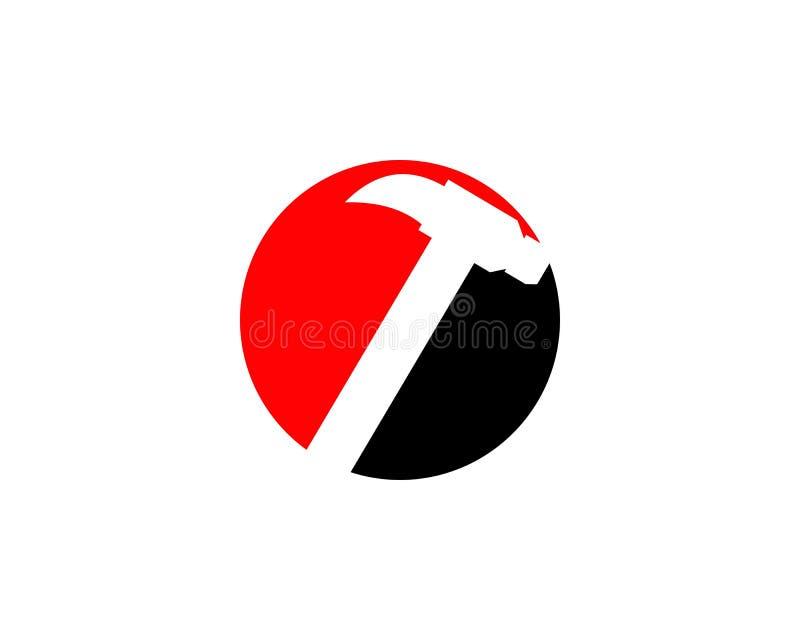 Młoteczkowy logo dla budowy, utrzymanie, własność, domowego naprawiania biznesowa firma ilustracja wektor