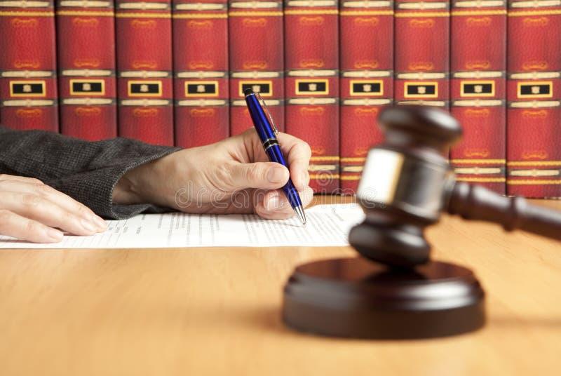 młoteczkowy sędzia zdjęcie royalty free