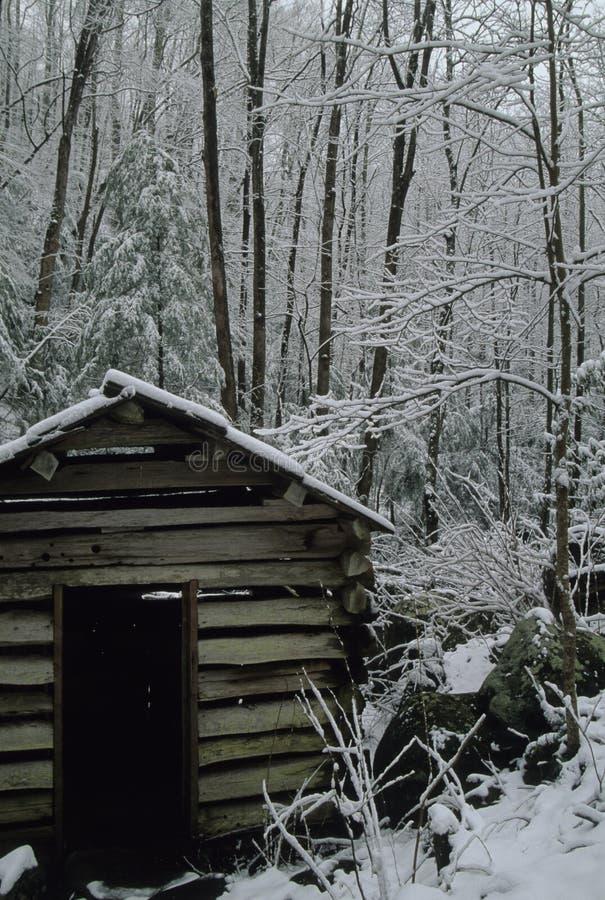 młyńska wanna śniegu fotografia royalty free