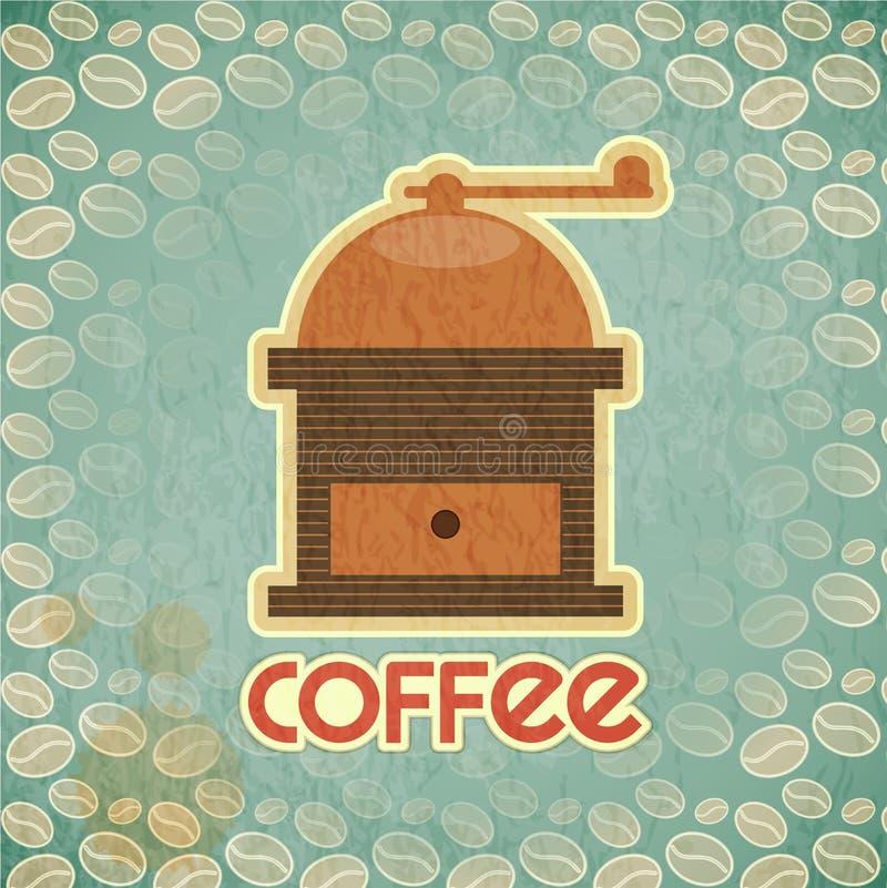 Młyński kawa rocznik ilustracji