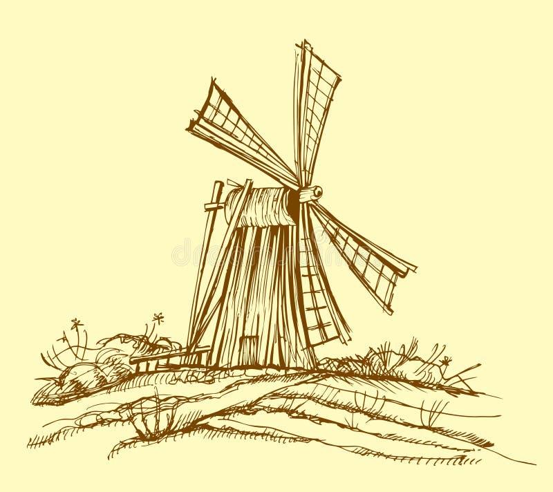 młyński stary ilustracji