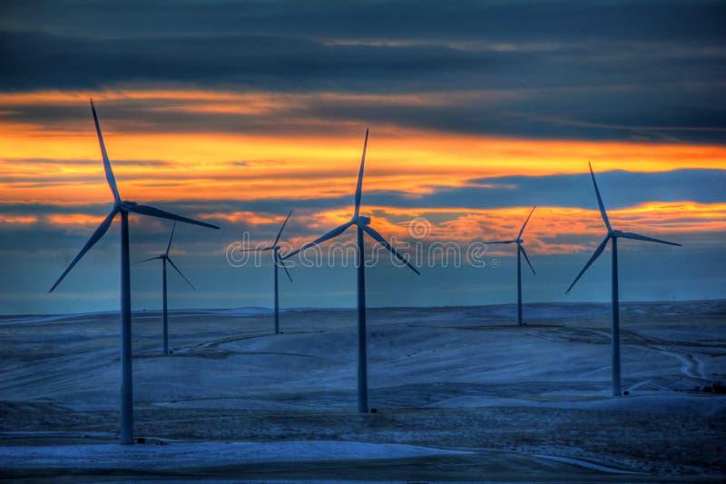 młynu zimny wiatr obrazy stock