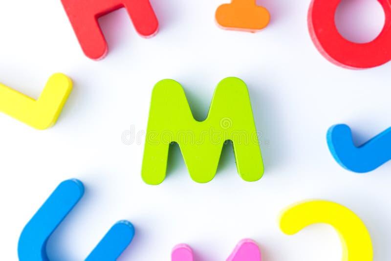 M信件用英语 库存图片