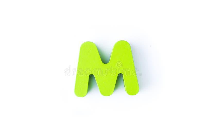M信件用英语 免版税库存图片